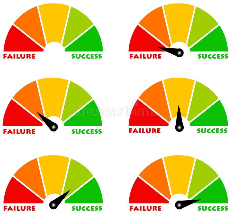 Niepowodzenie i sukces royalty ilustracja
