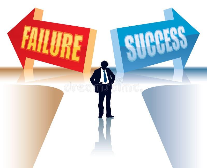niepowodzenie sukces ilustracji
