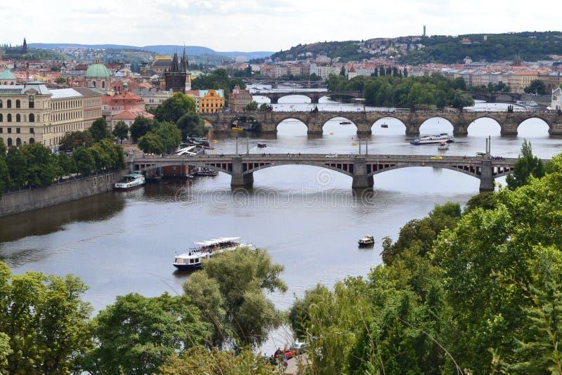 Nieprawdopodobny miasto Praga obraz stock