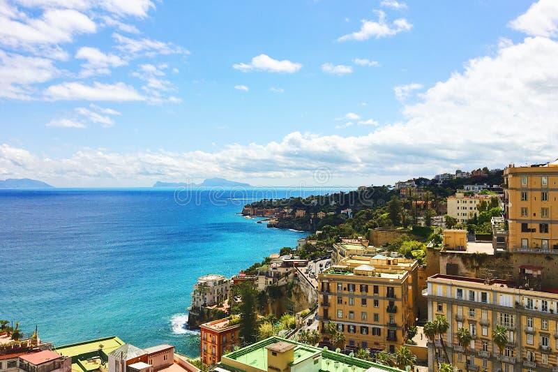 Nieprawdopodobny Naples widok fotografia royalty free