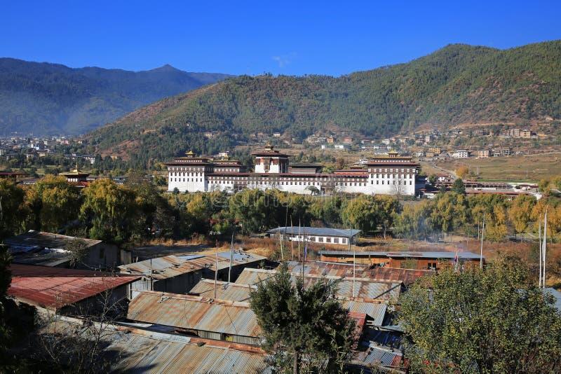Download Nieprawdopodobny Thimphu Dzong I Krajobraz, Bhutan Zdjęcie Stock - Obraz złożonej z nieprawdopodobny, landmark: 106912332