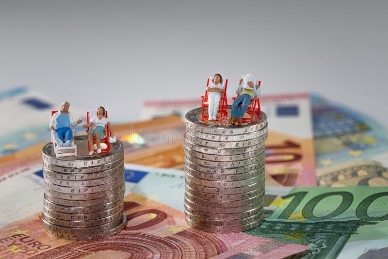 Nierównomierny bogactwo obrazy stock