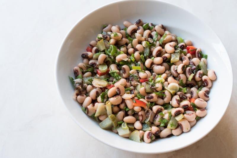 Nier Bean Salad met Tomaten, Peterselie en Dille/Borulce Salatasi/Salata royalty-vrije stock foto