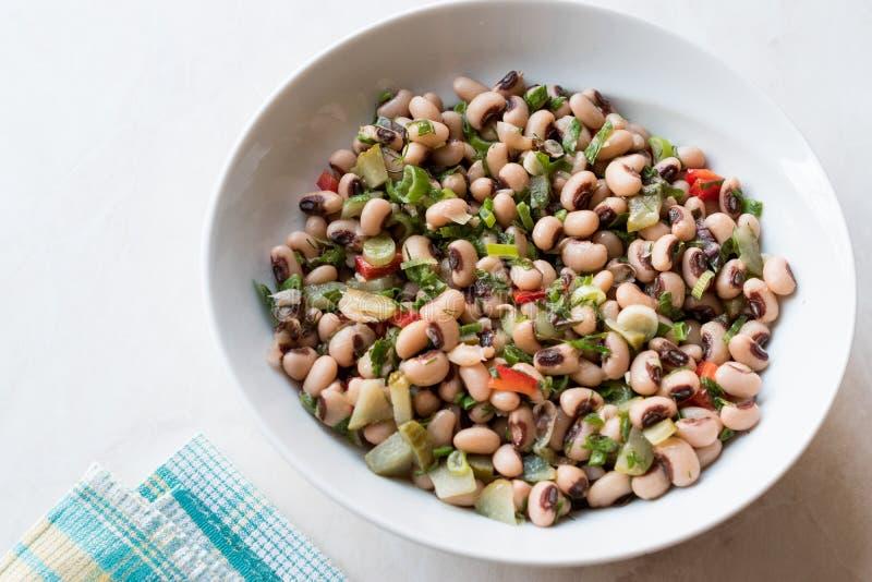 Nier Bean Salad met Tomaten, Peterselie en Dille/Borulce Salatasi/Salata royalty-vrije stock fotografie
