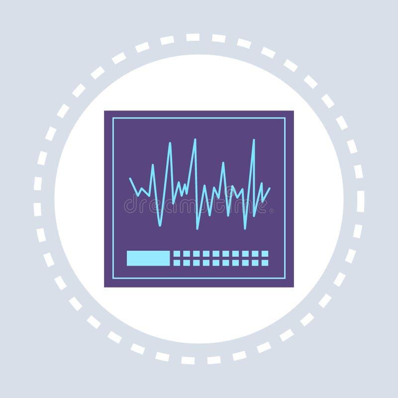 Nieregularna kierowego rytmu kardiograma ikony opieki zdrowotnej usługi zdrowotnej logo medycyna i zdrowie symbolu pojęcia mieszk royalty ilustracja