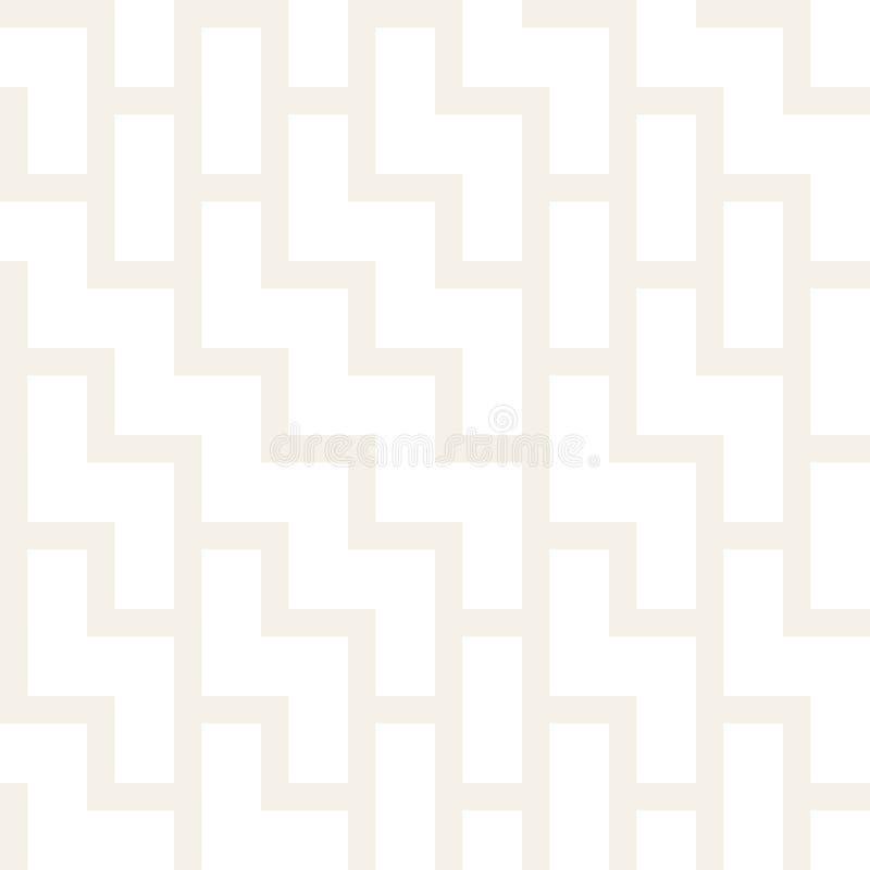 Nieregularni labiryntów kształty Tafluje Współczesnego Graficznego projekt czarny deseniowy bezszwowy wektorowy biel ilustracja wektor