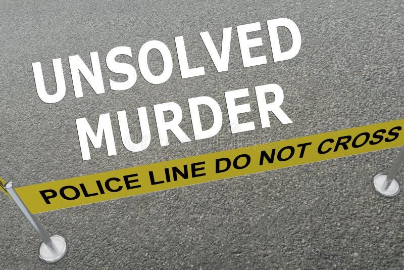 Nierozwiązany morderstwa pojęcie ilustracja wektor