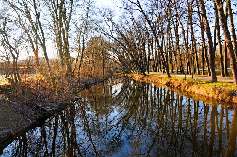 Download Niers river stock photo. Image of fall, german, sunny - 28676364