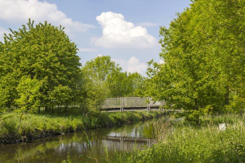 Niers rzeka, Geldern, Niemcy obraz stock
