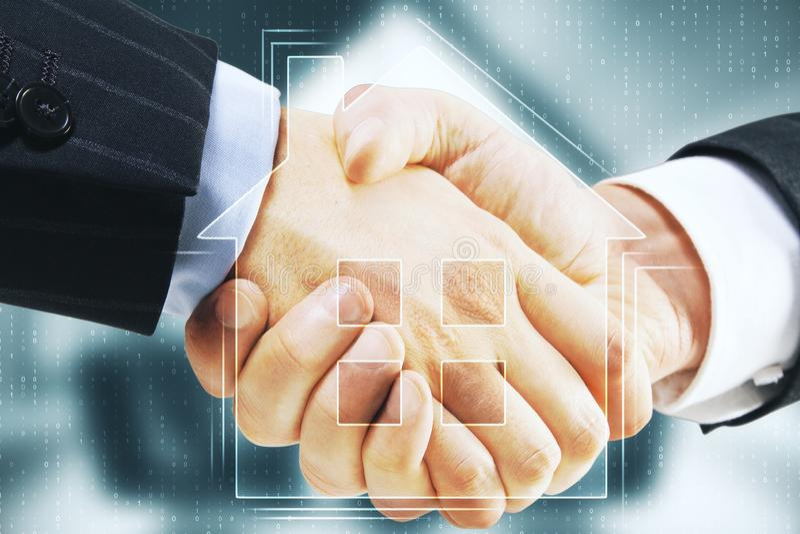 Nieruchomości i partnerstwa pojęcie zdjęcie stock