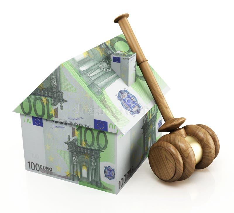 Nieruchomość aukcyjny euro ilustracji