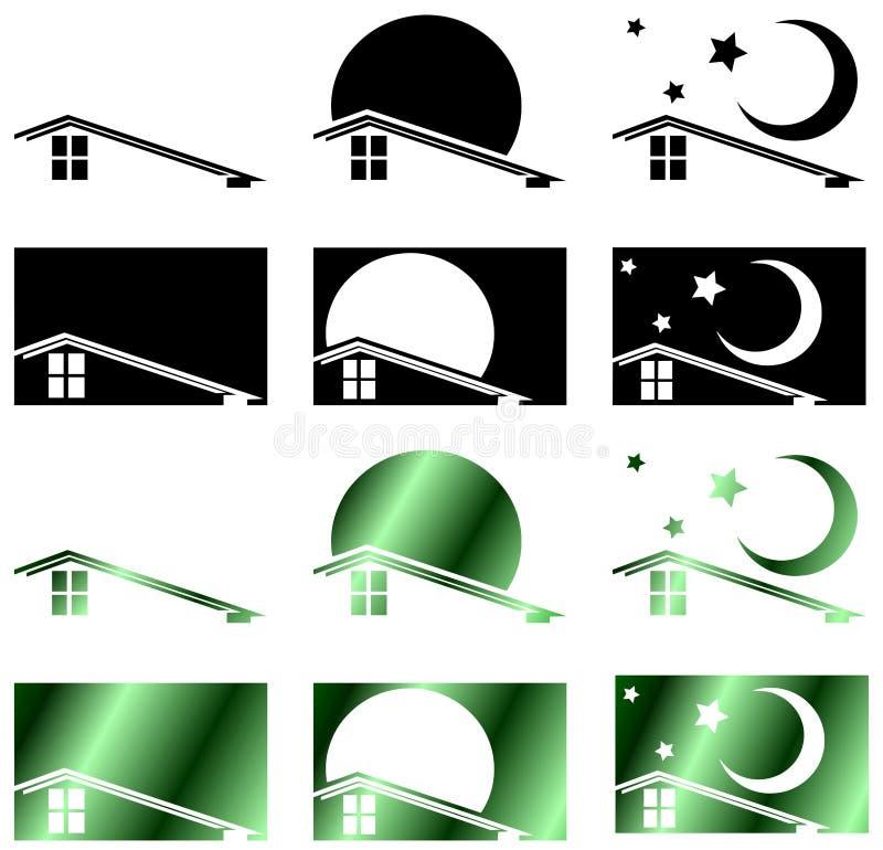 Nieruchomość dach royalty ilustracja