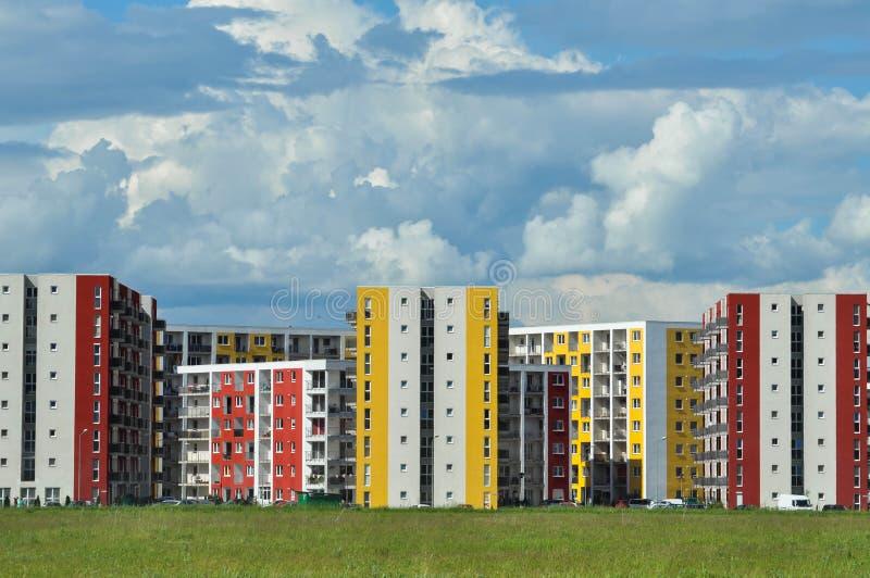 Nieruchomość, demograficzny wybuch, mieszkania bloki zdjęcia royalty free