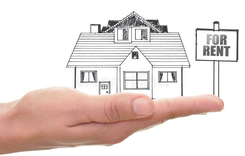 Nieruchomość dom dla czynszu zdjęcia stock