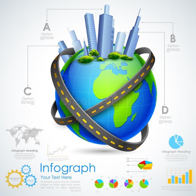 Nieruchomość Infographic royalty ilustracja