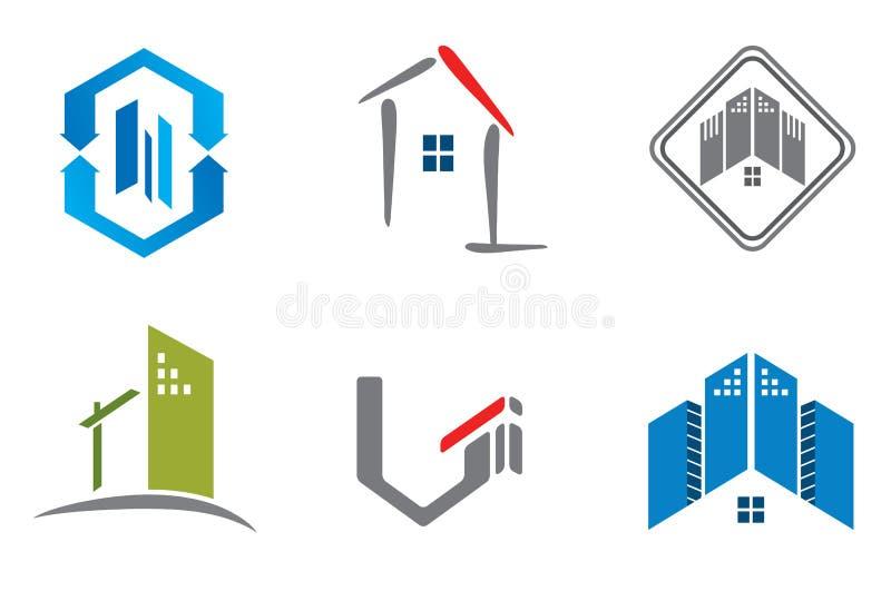 Nieruchomość loga set ilustracji