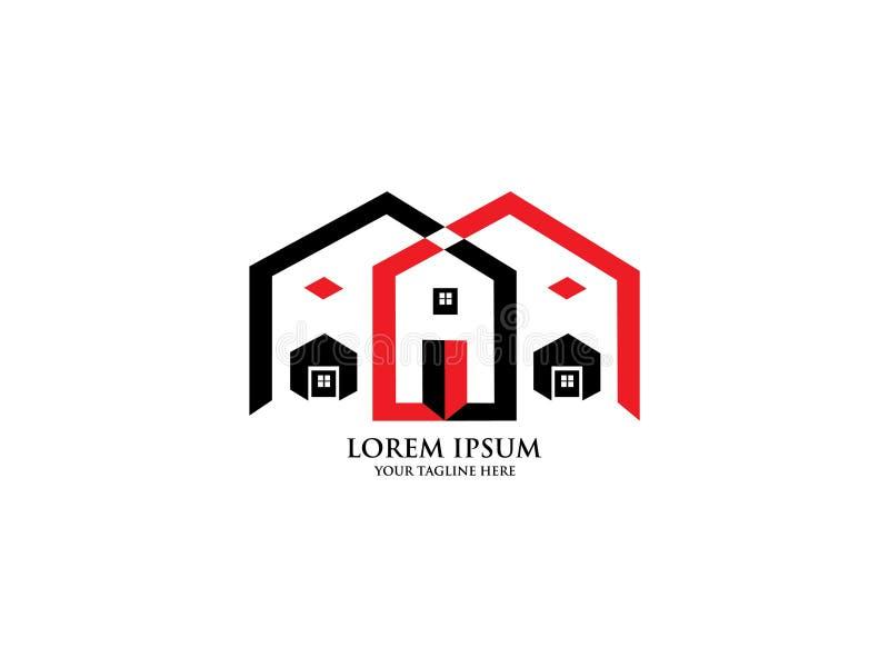 Nieruchomość logo, domowy logo, domowy logo, majątkowy logo, buduje logo, wektorowy logo szablon ilustracji