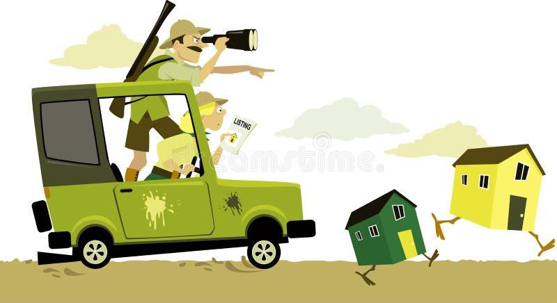 Nieruchomość safari ilustracja wektor