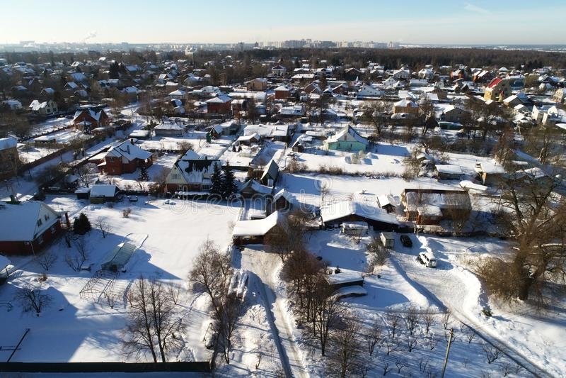 Nieruchomość w wiosce Erino, Podolsk region, Rosja obraz stock