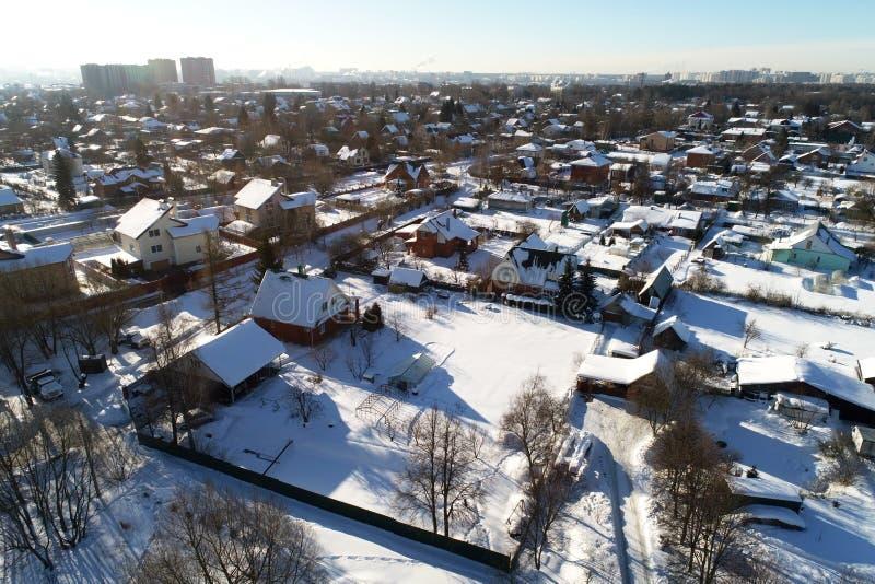 nieruchomość w wiosce Erino, Podolsk region, Rosja fotografia stock