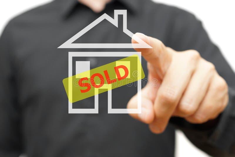 nieruchomości domowy ilustracyjny real sprzedający wektor obrazy royalty free