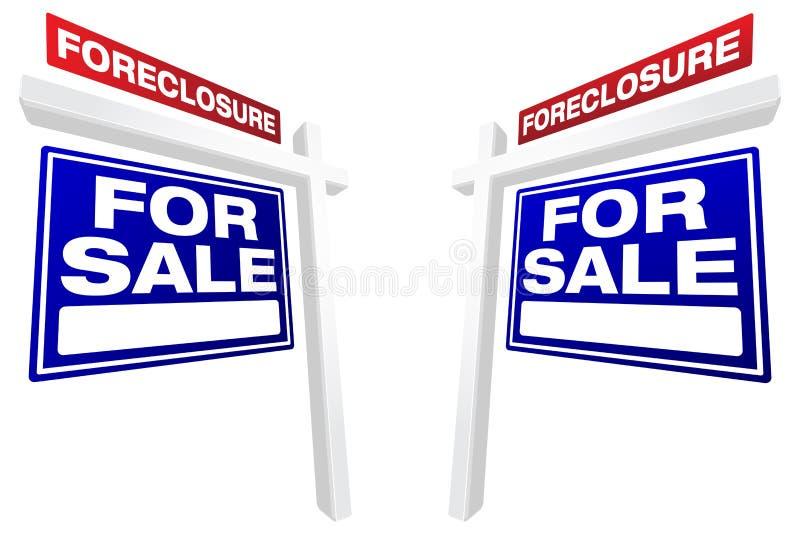 nieruchomości foreclosure pary istni sprzedaży znaki fotografia stock