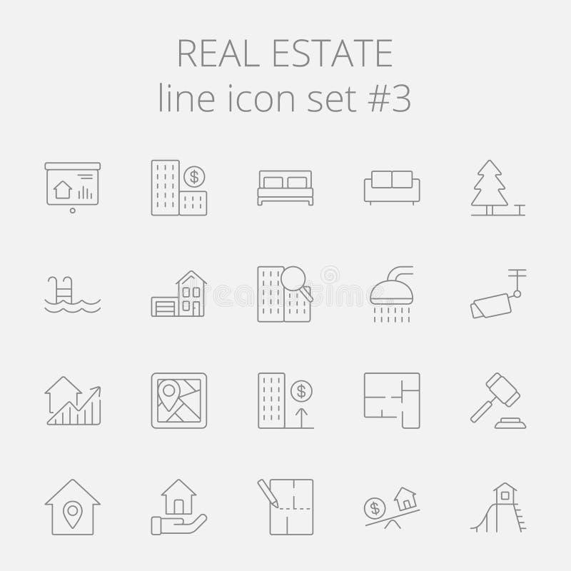 nieruchomości ikony reala set ilustracji