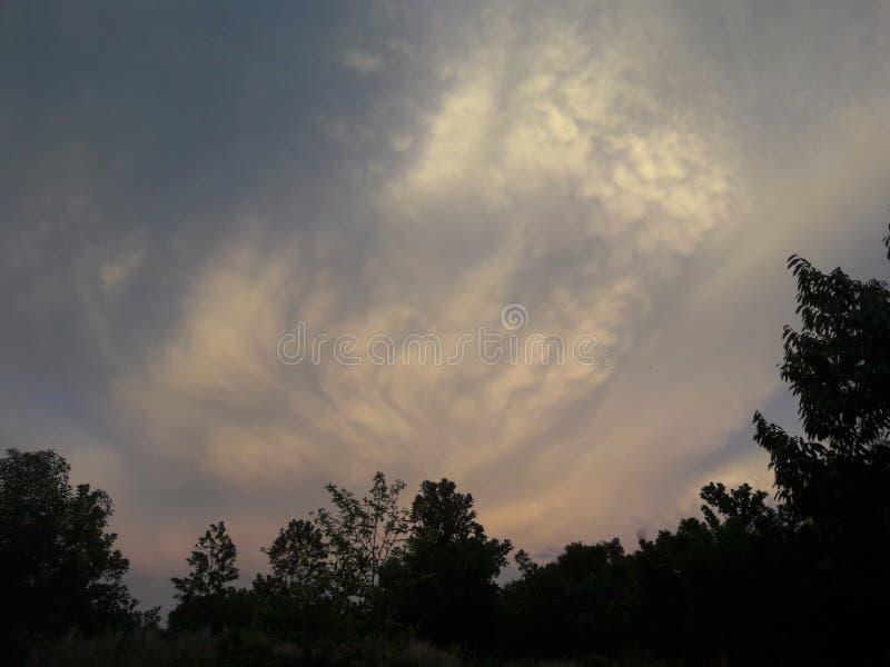 Niesamowicie niebo obraz royalty free