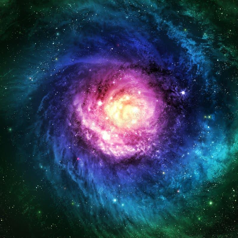 Niesamowicie piękny ślimakowaty galaxy gdzieś wewnątrz royalty ilustracja