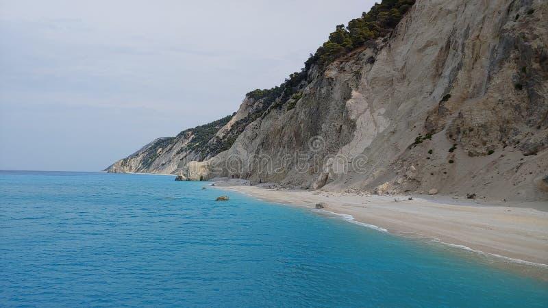 Niesamowita plaża Egremni fotografia royalty free