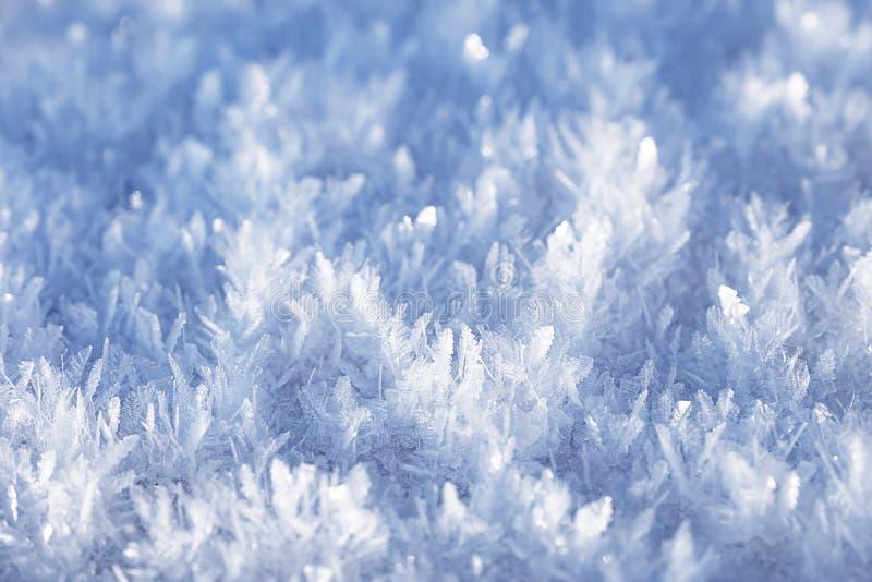 Niesamowite kryształy lodu fotografia royalty free