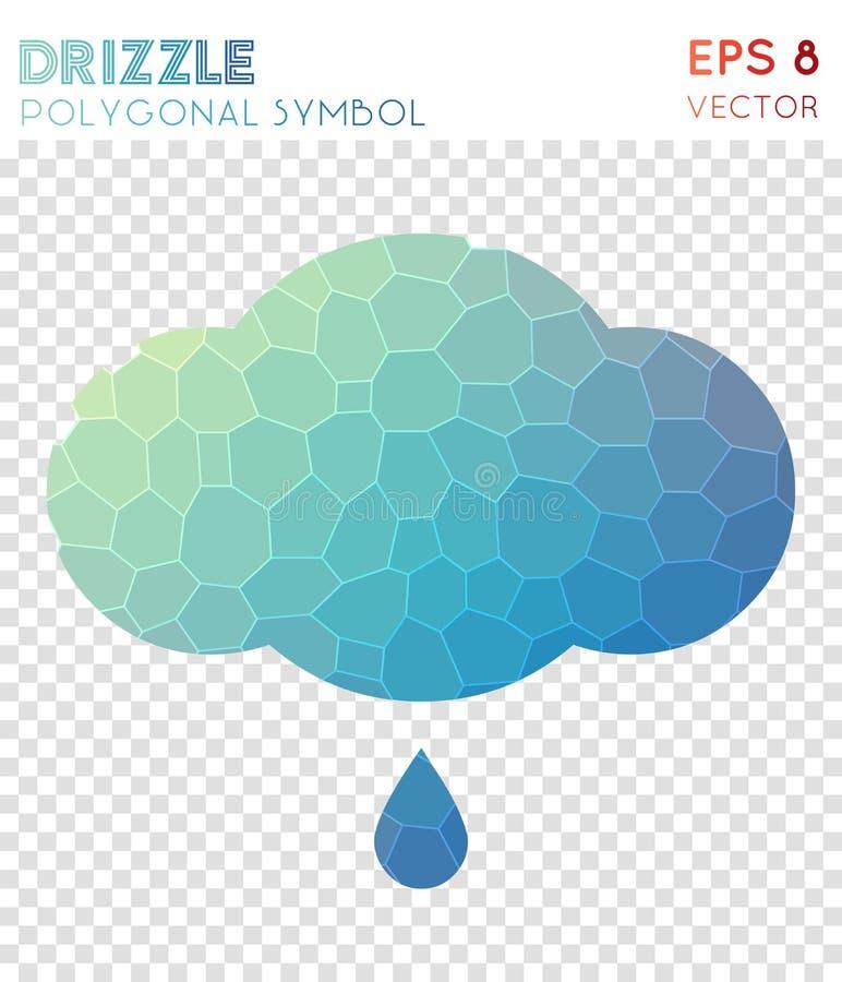 Nieselregen inv polygonales Symbol stock abbildung