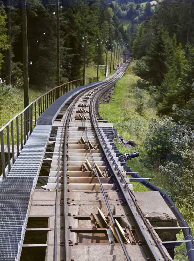 Niesen Funicular Way stock photos