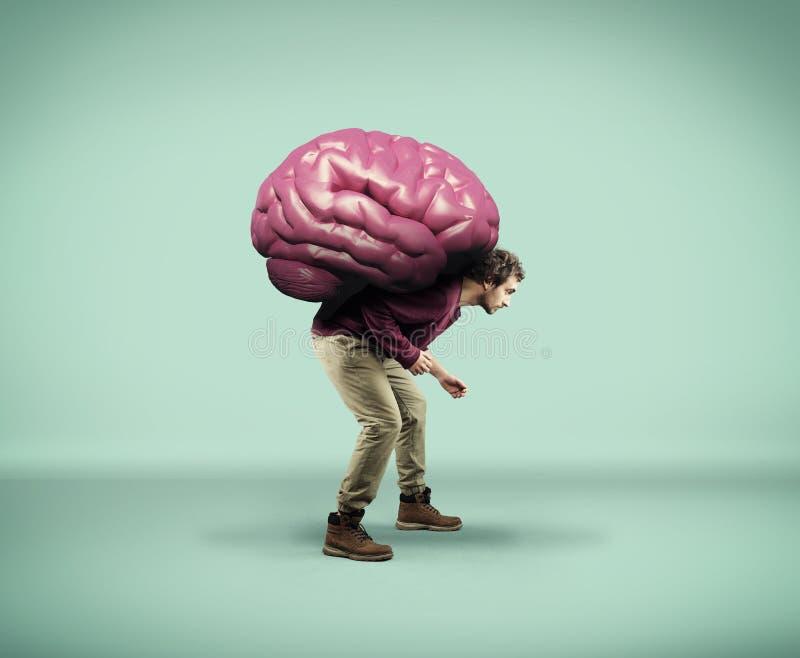 Niesie dużego mózg obraz royalty free