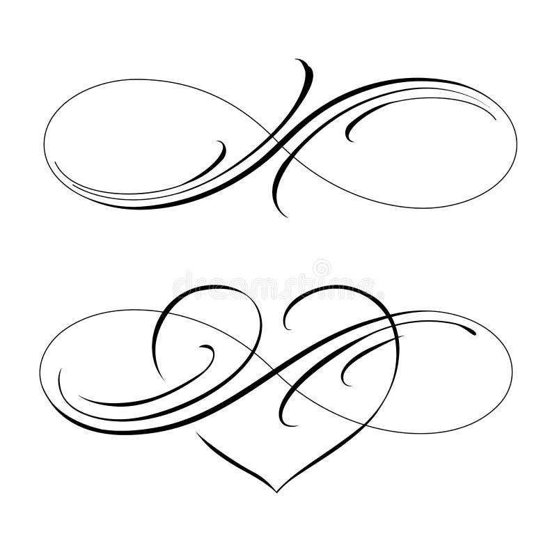 nieskończona miłość royalty ilustracja