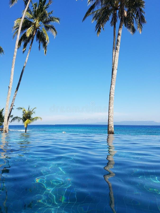 Nieskończoność basen w Bali, Indonezja obrazy stock