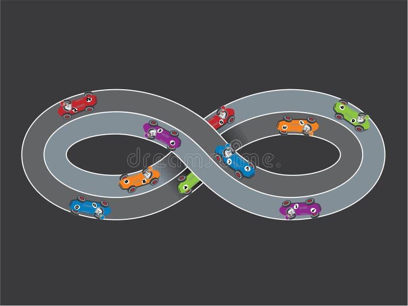 Nieskończoność biegowy ślad ilustracji