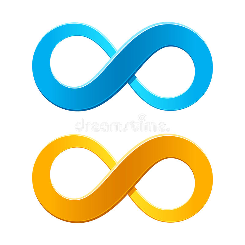 nieskończoność symbol ilustracja wektor