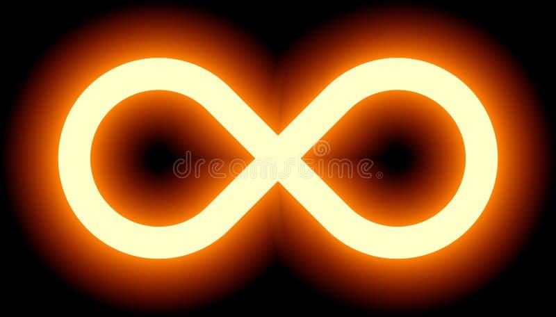 Nieskończoność symbolu pomarańczowy światło - barwi odcień łunę z przezroczystością ilustracji