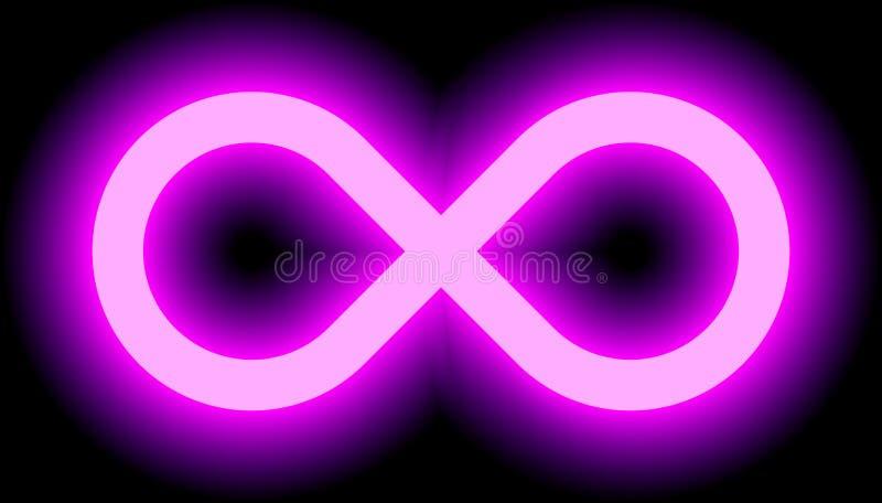 Nieskończoność symbolu purpur światło - barwi odcień łunę z przezroczystością ilustracji