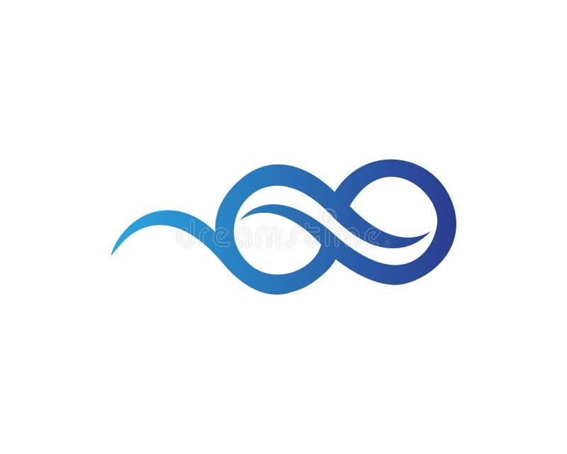 nieskończoność wektor i logo ilustracja wektor