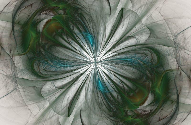 Nieskończoność znak, komputer wytwarzał fractal ilustracja wektor