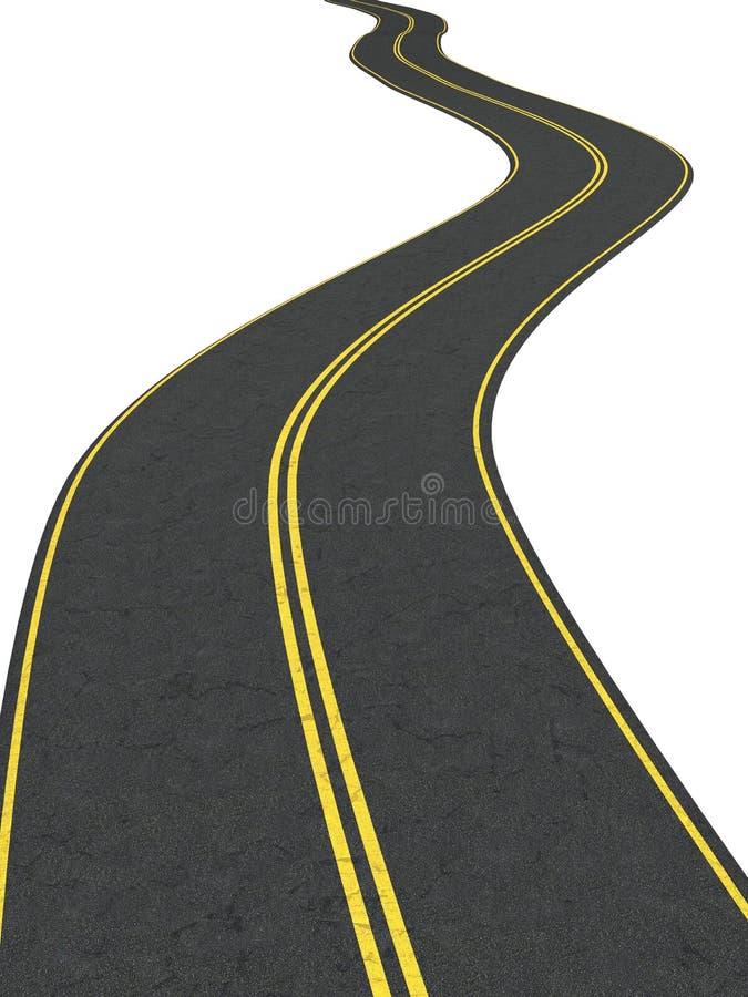 nieskończoności droga ilustracja wektor