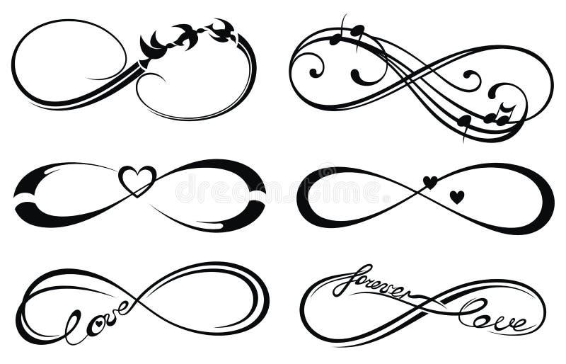 Nieskończoności miłość symbol, na zawsze ilustracja wektor