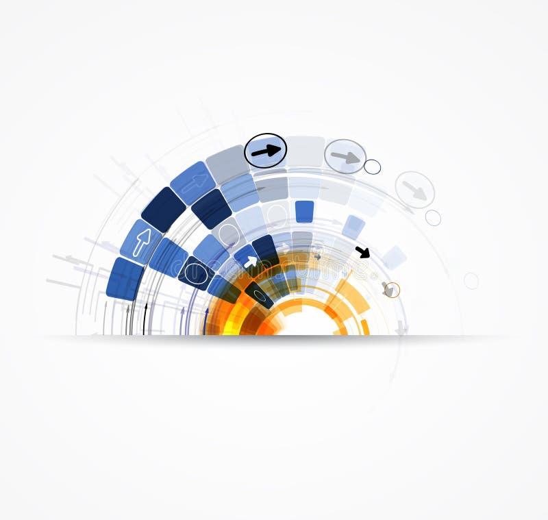 Nieskończoności nowej technologii pojęcia biznesu komputerowy tło ilustracji