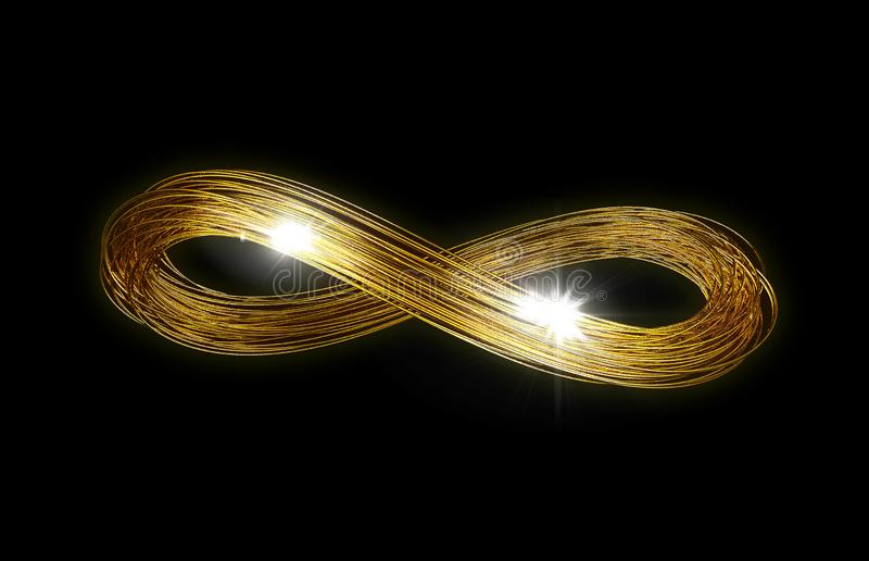 Nieskończoności złota linie obraz stock