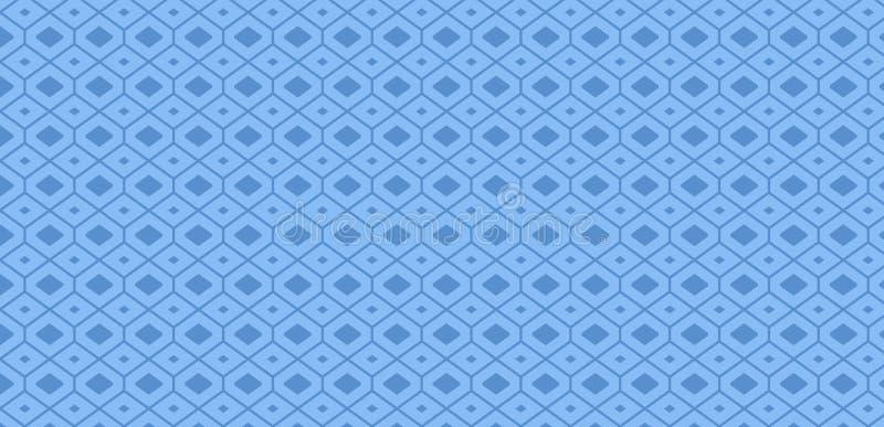Nieskończony Geometryczny Rhombus wzór przeciw Błękitnemu tłu dla O temacie wydarzeń Nowożytny Kreatywnie tło pomysł dla ilustracja wektor