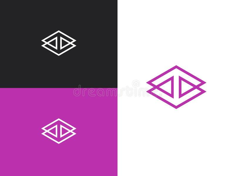 Nieskończony Kwadratowy Rhombus zapętlająca symbolu pojęcia ikona ilustracji