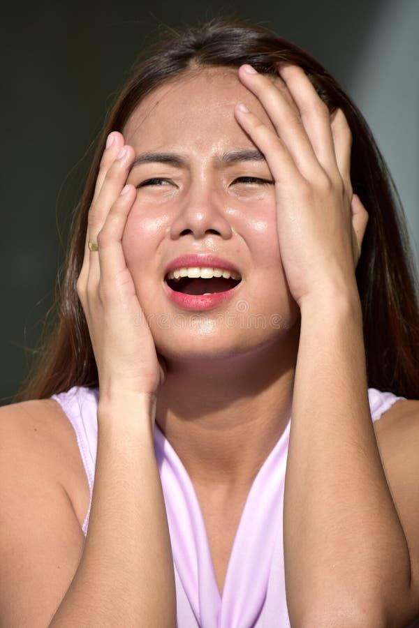 Niespokojna Atrakcyjna filipinka kobiety kobieta fotografia royalty free