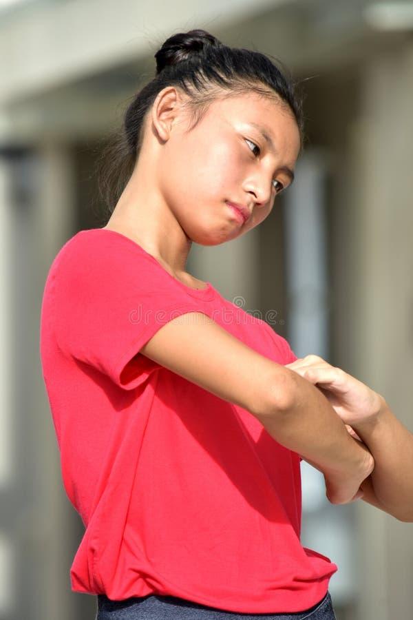 Niespokojna nastolatek dziewczyna zdjęcia royalty free